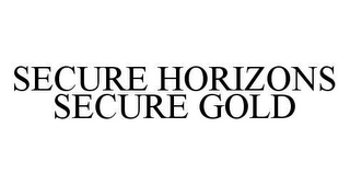 mark for SECURE HORIZONS SECURE GOLD, trademark #78495816