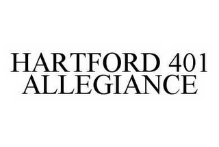 mark for HARTFORD 401 ALLEGIANCE, trademark #78497023