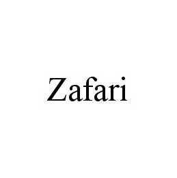 mark for ZAFARI, trademark #78498355