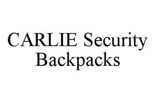 mark for CARLIE SECURITY BACKPACKS, trademark #78499671