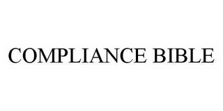 mark for COMPLIANCE BIBLE, trademark #78500160