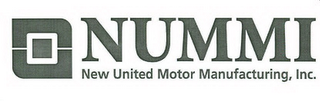 mark for NUMMI NEW UNITED MOTOR MANUFACTURING, INC., trademark #78501586