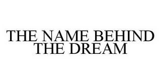 mark for THE NAME BEHIND THE DREAM, trademark #78502964