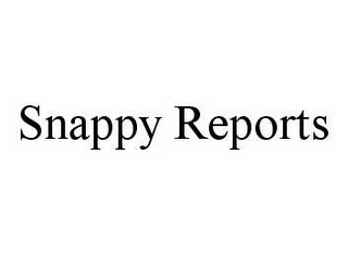 mark for SNAPPY REPORTS, trademark #78504342