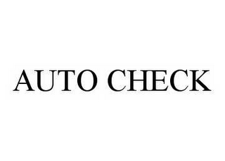 mark for AUTO CHECK, trademark #78507009