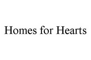 mark for HOMES FOR HEARTS, trademark #78507072