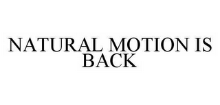 mark for NATURAL MOTION IS BACK, trademark #78507134