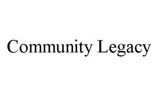 mark for COMMUNITY LEGACY, trademark #78508601