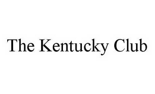 mark for THE KENTUCKY CLUB, trademark #78509362