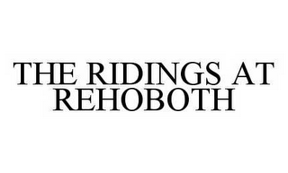 mark for THE RIDINGS AT REHOBOTH, trademark #78510901