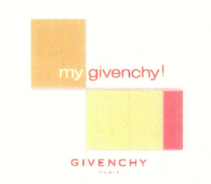 mark for MY GIVENCHY! GIVENCHY PARIS, trademark #78511104