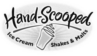 mark for HAND-SCOOPED ICE CREAM SHAKES & MALTS, trademark #78511567