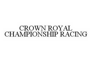 mark for CROWN ROYAL CHAMPIONSHIP RACING, trademark #78511993