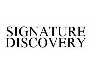 mark for SIGNATURE DISCOVERY, trademark #78512498