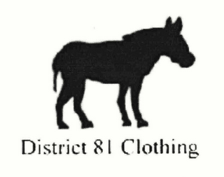 mark for DISTRICT 81 CLOTHING, trademark #78514370