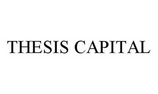 mark for THESIS CAPITAL, trademark #78516178