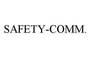 mark for SAFETY-COMM., trademark #78516881