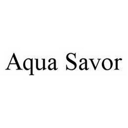 mark for AQUA SAVOR, trademark #78517220