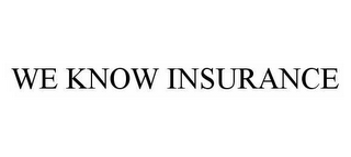 mark for WE KNOW INSURANCE, trademark #78521933