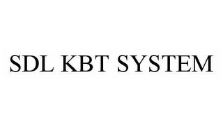 mark for SDL KBT SYSTEM, trademark #78524505
