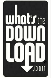 mark for WHAT'S THE DOWN LOAD.COM, trademark #78529058