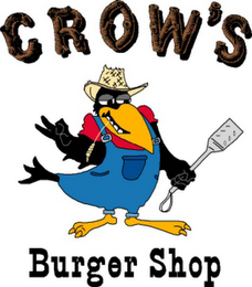 mark for CROW'S BURGER SHOP, trademark #78534461
