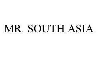 mark for MR. SOUTH ASIA, trademark #78535523