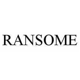 mark for RANSOME, trademark #78537396