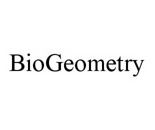 mark for BIOGEOMETRY, trademark #78537521