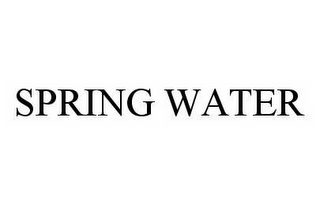 mark for SPRING WATER, trademark #78537712