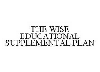 mark for THE WISE EDUCATIONAL SUPPLEMENTAL PLAN, trademark #78538687