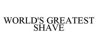 mark for WORLD'S GREATEST SHAVE, trademark #78539143