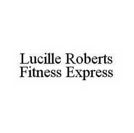 mark for LUCILLE ROBERTS FITNESS EXPRESS, trademark #78540305