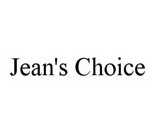 mark for JEAN'S CHOICE, trademark #78540397