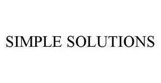 mark for SIMPLE SOLUTIONS, trademark #78542952