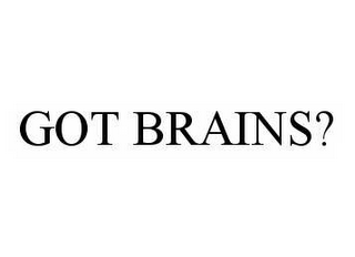 mark for GOT BRAINS?, trademark #78544583