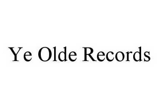 mark for YE OLDE RECORDS, trademark #78545523
