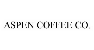 mark for ASPEN COFFEE CO., trademark #78545574