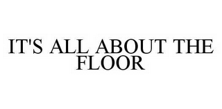 mark for IT'S ALL ABOUT THE FLOOR, trademark #78546675