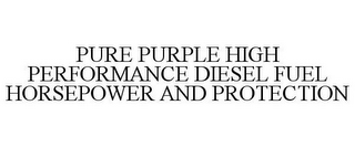 mark for PURE PURPLE HIGH PERFORMANCE DIESEL FUEL HORSEPOWER AND PROTECTION, trademark #78546725