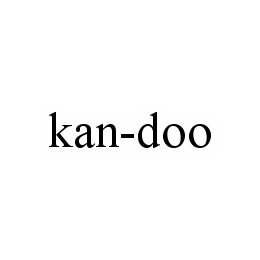 mark for KAN-DOO, trademark #78547615