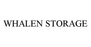 mark for WHALEN STORAGE, trademark #78548177