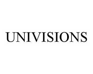 mark for UNIVISIONS, trademark #78548921