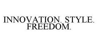 mark for INNOVATION. STYLE. FREEDOM., trademark #78548945