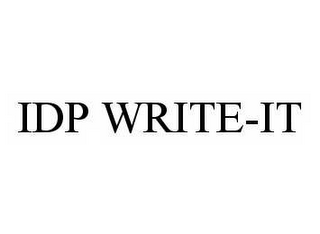 mark for IDP WRITE-IT, trademark #78550316