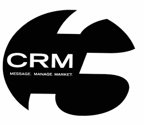 mark for CRM MESSAGE. MANAGE. MARKET., trademark #78550381