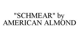 "mark for ""SCHMEAR"" BY AMERICAN ALMOND, trademark #78550488"