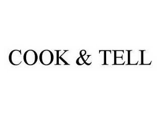 mark for COOK & TELL, trademark #78551192