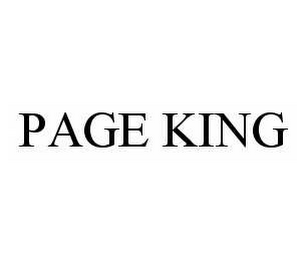 mark for PAGE KING, trademark #78551930