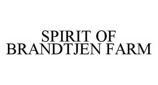 mark for SPIRIT OF BRANDTJEN FARM, trademark #78552755
